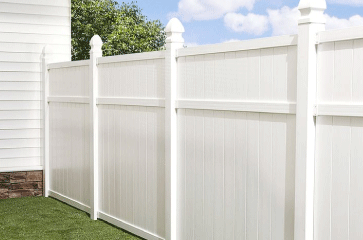 Vinyl is a very strong and durable material. Vinyl fencing is great because it requires little to no maintenance. It looks great on any property and adds privacy and security as well.